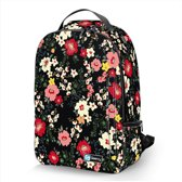 """Laptop rugzak 15,6"""" Deluxe zwart bloemetjes - Sleevy"""