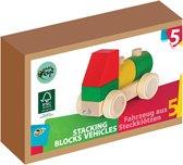 Varis Toys - Stapelblokken - Voertuigen - 5 delig