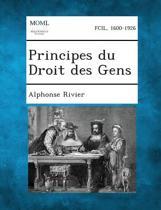 Principes Du Droit Des Gens