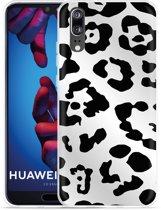 Huawei P20 Hoesje Luipaard Zwart Wit