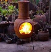 Sol-y-Yo Chimenea Mexicaanse terracotta kachel (geel, 105 cm)