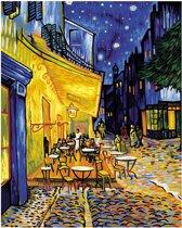 Schilderen op Nummer Schipper Nachtcafe bij terras