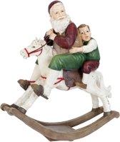 Clayre & Eef Kerstman op hobbelpaard 45x18x50 cm