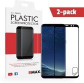 2-pack BMAX Samsung Galaxy S8 Plus Screenprotector | Full Cover Beschermfolie | Ultra Clear PET | Onzichtbaar Display Folie