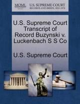 U.S. Supreme Court Transcript of Record Buzynski V. Luckenbach S S Co