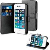 iPhone 4 4s Portemonnee Hoesje Case Zwart