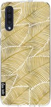 Casetastic Smartphone Hoesje Softcover Samsung Galaxy A50 (2019) - Tropical Leaves Gold