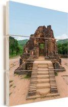 My Son bij Hoi An in Vietnam Vurenhout met planken 40x60 cm - Foto print op Hout (Wanddecoratie)