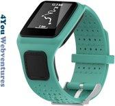 Groen bandje voor Tomtom Runner 1 & Multi-Sport 1 - horlogeband - polsband - strap - horlogebandje - 4You Webventures