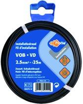 PROFILE installatiedraad VOB (België) VD (Nederland) - 2,5mm² - zwart - 25 meter