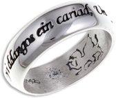 Welsh Liefde zilveren Ring Maat 50