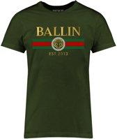 Ballin Est. 2013 - Heren Tee SS Line Small Shirt - Groen - Maat M