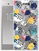 Sony Xperia XZ1 Hoesje Abstract Flowers