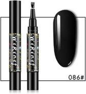EPIN | Gel nagellak pen zwart 086 | Makkelijk mooie gelnagels
