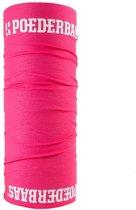 Poederbaas nekwarmer - roze, nekwarmer voor de wintersport, bandana
