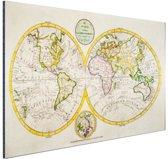 Antieke wereldkaart Aluminium 30x20 cm - klein