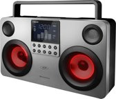 S-Digital Commando lightshow portable speaker met Bluetooth, USB, SD en radio