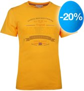 Heren T-shirt Domburg  -  Okergeel
