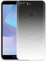Huawei Y6 2018 Hoesje zwart witte cirkels