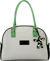 Little Company - Today PopUp Shoulder Bag Round Luiertas - Groen/Zwart