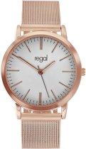 Regal - Regal mesh horloge rose band
