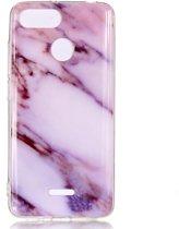 Mobigear Marble Soft TPU Paars Xiaomi Redmi 6