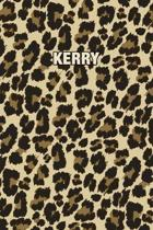 Kerry: Personalized Notebook - Leopard Print (Animal Pattern). Blank College Ruled (Lined) Journal for Notes, Journaling, Dia
