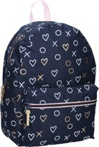 Milky Kiss Hearts Kinderrugzak 13,6 liter - Blauw met print