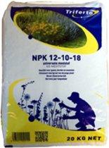 Kunstmest NPK 12-10-18 meststof chloorarm 20kg