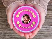 Tandendoosje - Meisje, Roze - Firsty® Round - Inclusief nederlands Logboekje en Sticker - Gratis verzending elke DI en VR (besteld vóór 13.30 uur)