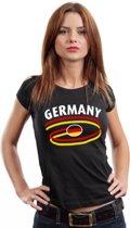 Zwart dames t-shirt Duitsland L