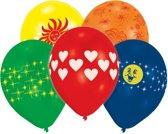 8 Latex Balloons Global Print Assorted 25.4 cm/10