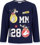 Disney Mickey T-shirt-met-lange-mouw-marineblauw - Maat 104