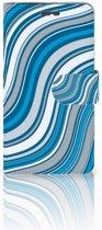 Lenovo K6 Boekhoesje Design Waves Blue