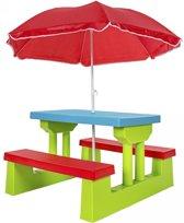 Kindertafel tuintafel eettafel Inclusief parasol 401645