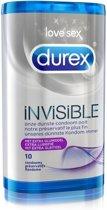 Voordeelpakket Durex Invisible Extra Dunne Condooms met Extra Glijmiddel - Condooms - 2 x 10 stuks