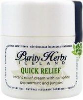 Quick Relief - 100% natuurlijk crème met IJslandse kruiden en etherische oliën - verlicht spanningshoofdpijn - 30 ml
