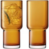 LSA International Utility Drinkglas - 390 ml - Set van 2 Stuks - Oranje