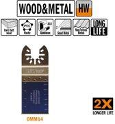 35 mm. HM multitool vertanding voor hout en metaal 1st. (Universeel)
