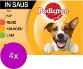 Pedigree Adult Selection Multipack - Kip, Lam, Gevogelte, Rundvlees in saus - 4 x (12 x 100 ) gr