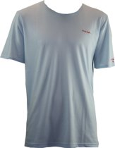 Sun-Safer zondoorlatende heren T-shirt licht blauw met ronde hals maat S bruin worden zonder te verbranden