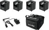 EUROLITE Set 4x accu UP-1 + SB-4 transporttas + QuickDMX zender - LED Uplight Set