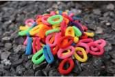 Gekleurde Haarelastiekjes - 100 stuks - Trendy Fluor Kleuren - Gekleurde Haar Elastiekjes Voor Meisjes - Haarbandjes Kinderen - Geen Verzendkosten