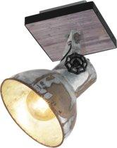 EGLO Barnstaple - wandlamp - 1-lichts - E27 - bruin-patina/zwart/oud-zink-look