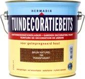 Hermadix Tuindecoratiebeits Transparant 766 Bruin Naturel - 2.5 l