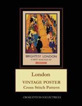 London: Vintage Poster Cross Stitch Pattern