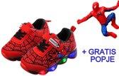 Spiderman schoenen met licht maat 27 Spiderman pak verkleed pak spider Spinnenheld superheld verkleedkleding jongen + GRATIS popje