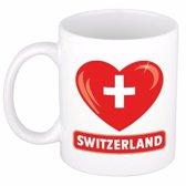 Hartje Zwitserland mok / beker 300 ml