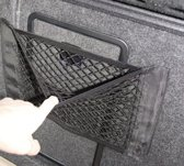 kofferbak organizer | Opbergvak kofferbak | Elastisch opbergnet | Te bevestigen d.m.v klittenband | 35 x 25 cm