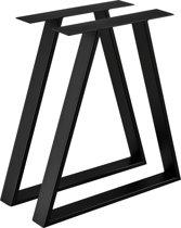 [en.casa] Stalen A/2 - tafelpoot - meubelpoot 70x10x72 zwart